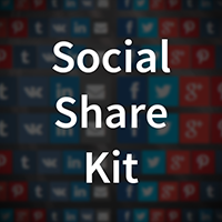 Social Share Kit - Social sharing buttons, icons and popups